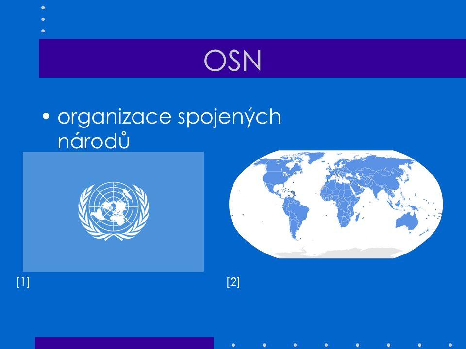 OSN organizace spojených národů [1] [2]